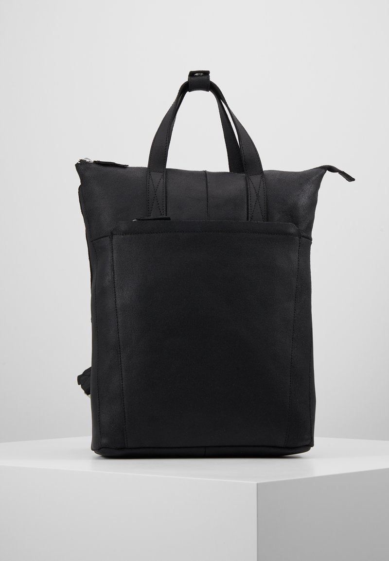 Zign - UNISEX -LEATHER - Rucksack - black