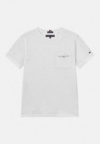ESSENTIAL SLUB POCKET - Print T-shirt - white