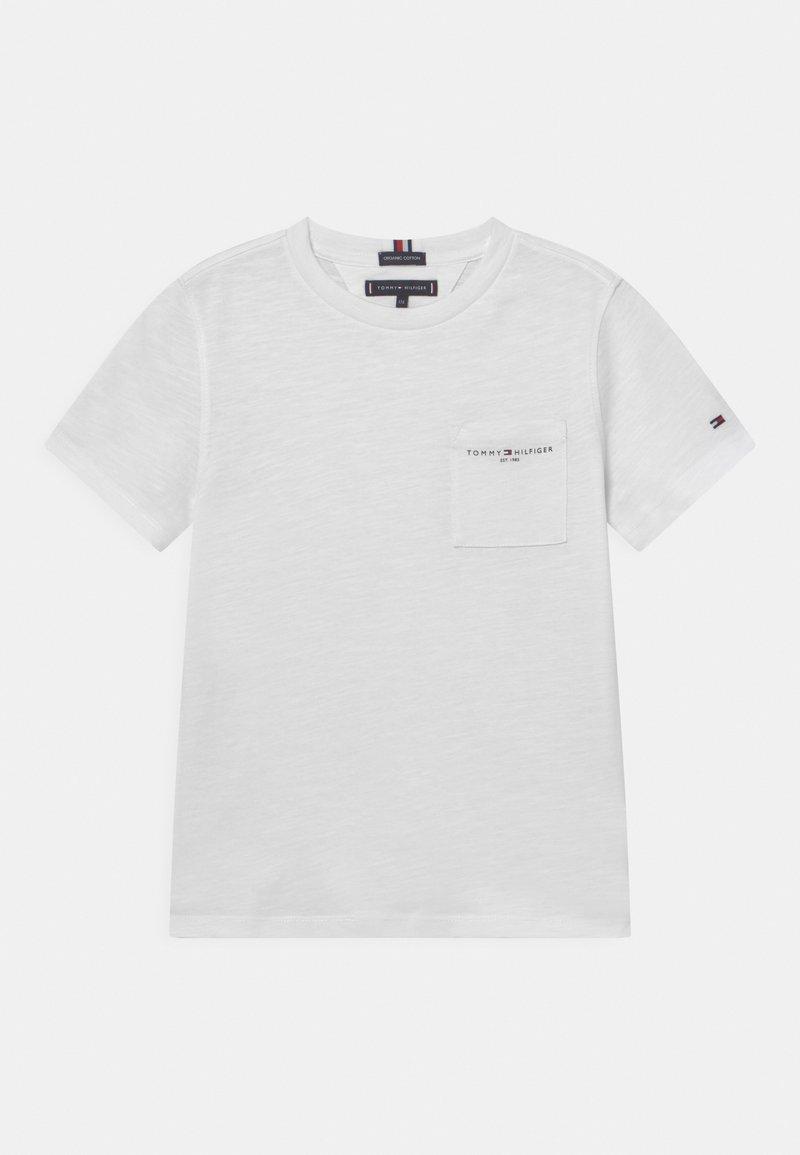 Tommy Hilfiger - ESSENTIAL SLUB POCKET - T-shirt imprimé - white