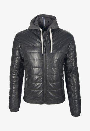 SNOW - Leather jacket - black