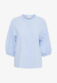 Kaffe - Button-down blouse - light blue check - 3