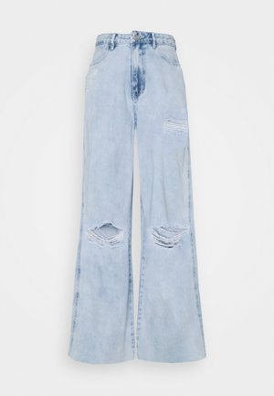 KNEE RIP BAGGY BOYFRIEND - Relaxed fit jeans - light blue
