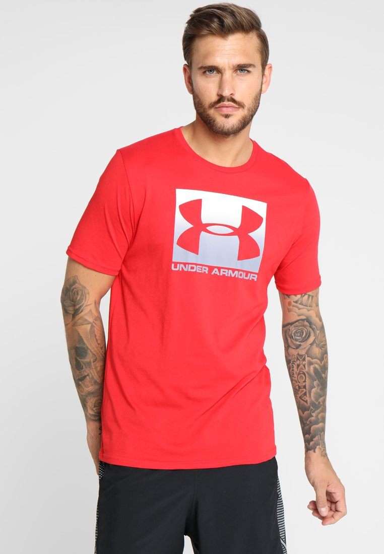 Under Armour - BOXED STYLE - Print T-shirt - red/steel