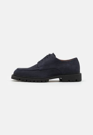CHINO COM DERBY - Lace-ups - navy