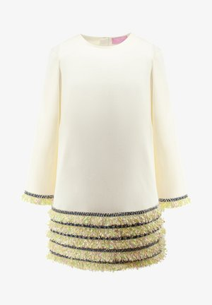 WITH GREEN LINES - Day dress - white