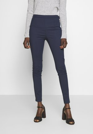 HIGH WAIST PANT - Trousers - navy