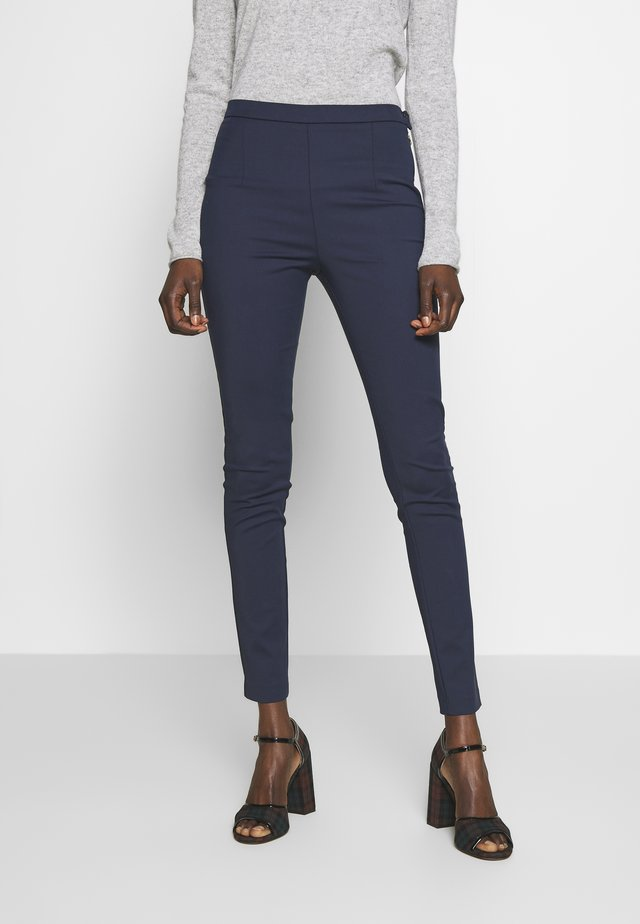 HIGH WAIST PANT - Tygbyxor - navy