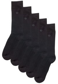 Next - BLACK PLAIN COMFORT SOCKS FIVE PACK - Socks - black - 0