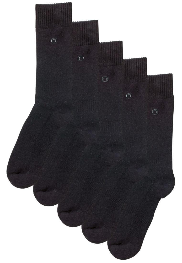 Next - BLACK PLAIN COMFORT SOCKS FIVE PACK - Socks - black