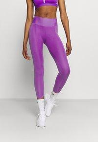 Nike Performance - ONE LUXE CROP - Leggings - wild berry - 0