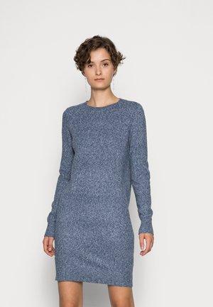 VMDOFFY O-NECK DRESS - Stickad klänning - dark blue