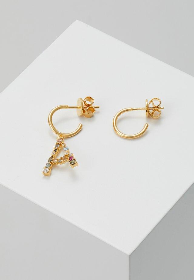 E EARRING - Orecchini - gold-coloured