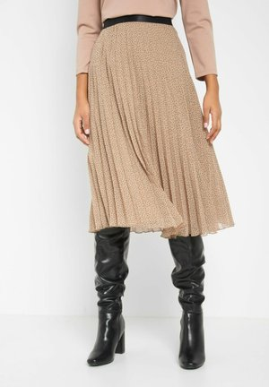 A-line skirt - creme beige