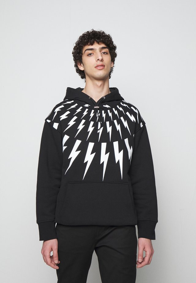 FAIR ISLE THUNDERBOLT - Sweatshirt - black/white