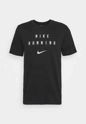 RUN DIVISION - T-shirt imprimé - black