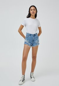 PULL&BEAR - Denim shorts - dark blue - 1