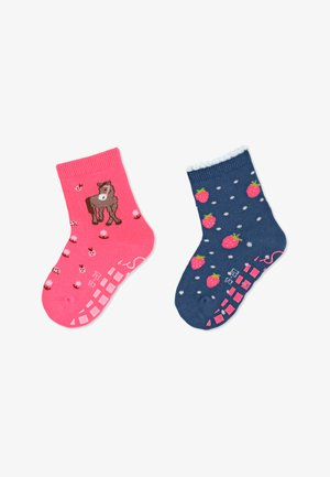 ABS ANTIRUTSCH SOCKEN DOPPELPACK PFERD - Socks - pink