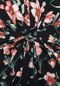Anna Field Curvy - Maxi dress - black/pink/dark green - 2