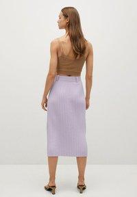 Mango - KATYA - A-line skirt - lys/pastell lilla - 2
