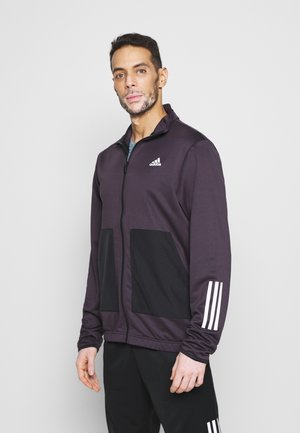 FABRIC MIX AEROREADY SPORTS TRACKSUIT - Tracksuit - noble purple/black