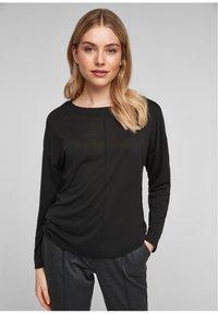 s.Oliver - DROPPED SHOULDER - Long sleeved top - black - 0
