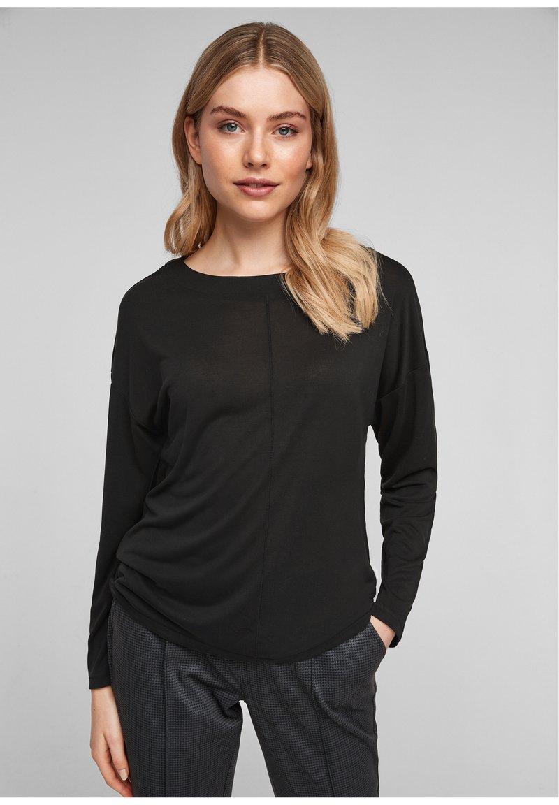 s.Oliver - DROPPED SHOULDER - Long sleeved top - black