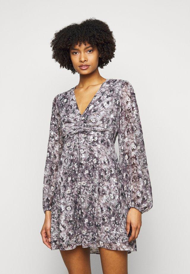 DRESS - Robe d'été - black/ecru