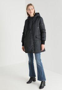 Modern Eternity - FAITH 3-IN-1 THIGH BOMBER PUFFER COAT - Winter coat - black - 1