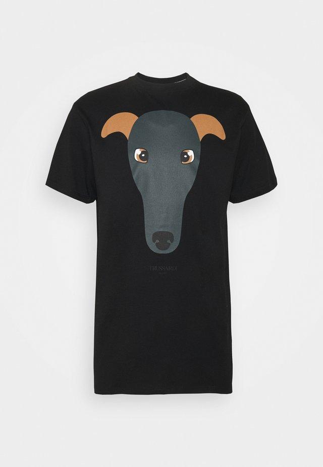 PURE - T-shirt con stampa - black
