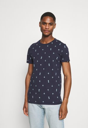 Print T-shirt - deep capri