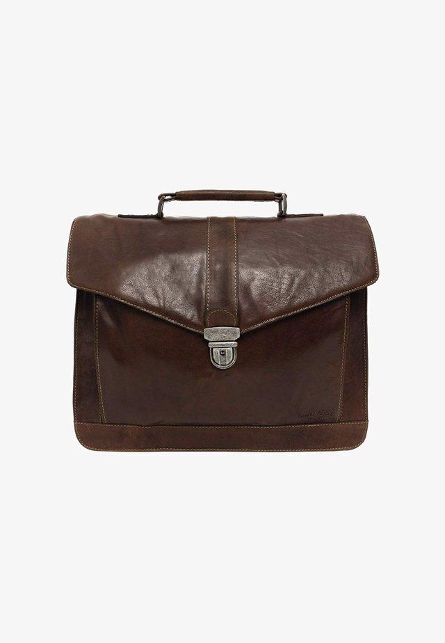 PAXTON - Briefcase - dark brown