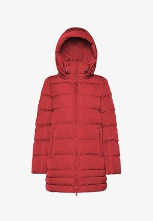 Winterjas - red dahlia  f7207