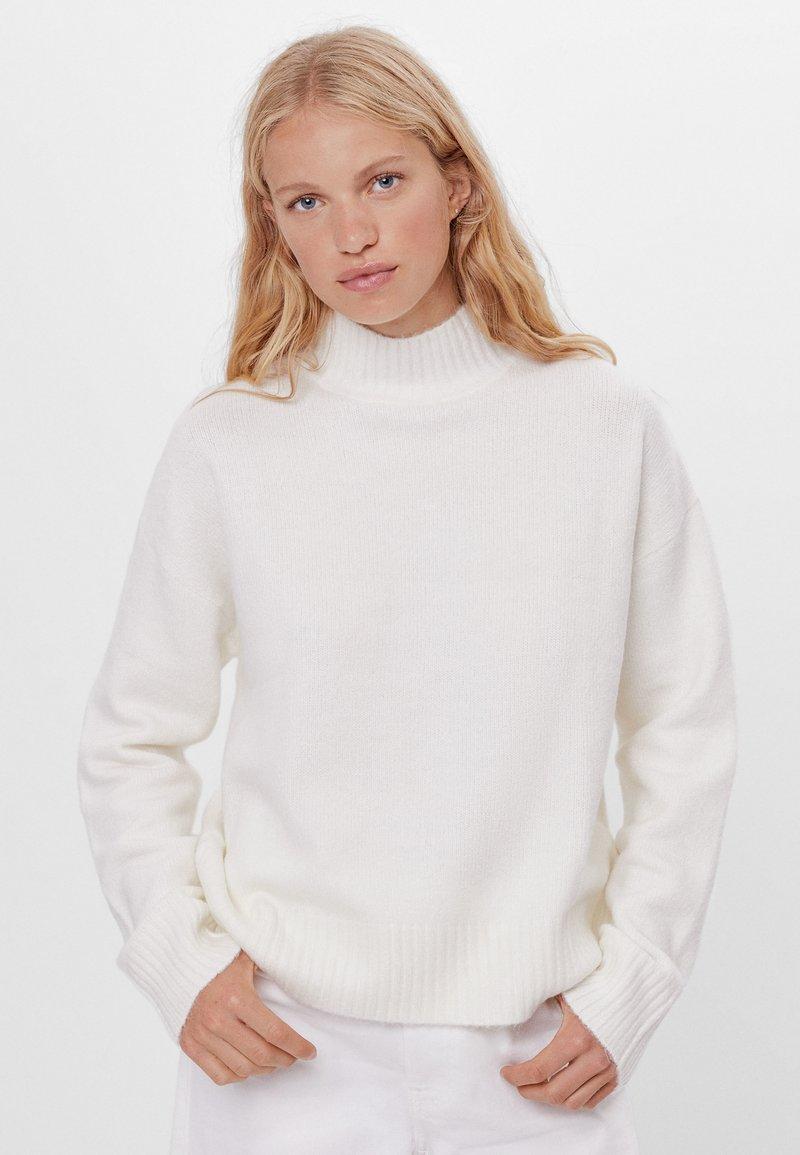 Bershka - Pullover - white
