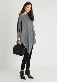 Part Two - KRISTANNA - Poncho - medium grey - 1