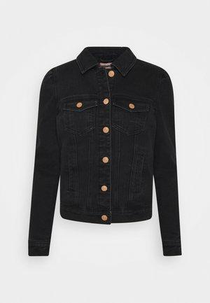 ONLTIA REG PUFFSLEEVE  - Denim jacket - black