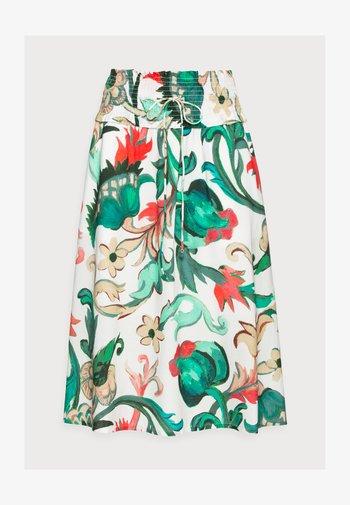 BABUSHKA SHIRRED SKIRT - A-line skirt - white