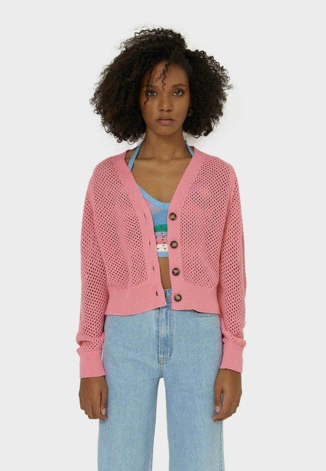 MIT LOCHMUSTER  - Kardigan - pink