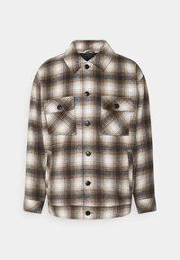 Mennace - FLECK CHECK  - Summer jacket - black/white/tan - 0
