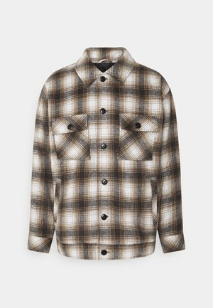 FLECK CHECK  - Summer jacket - black/white/tan