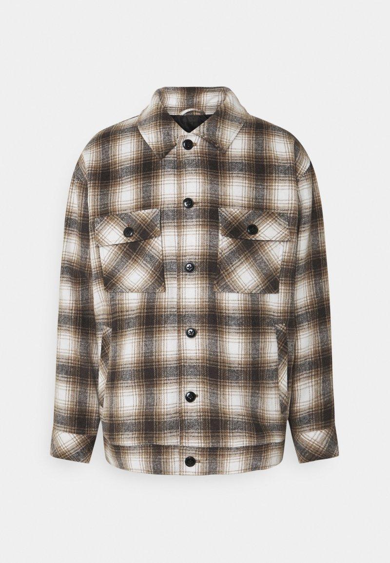 Mennace - FLECK CHECK  - Summer jacket - black/white/tan