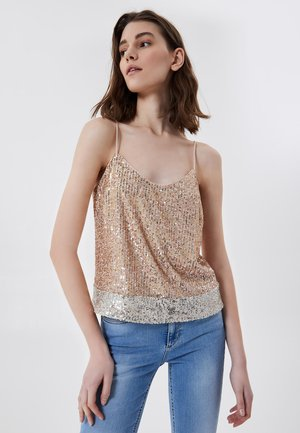 WITH SEQUINS - Blouse - pink