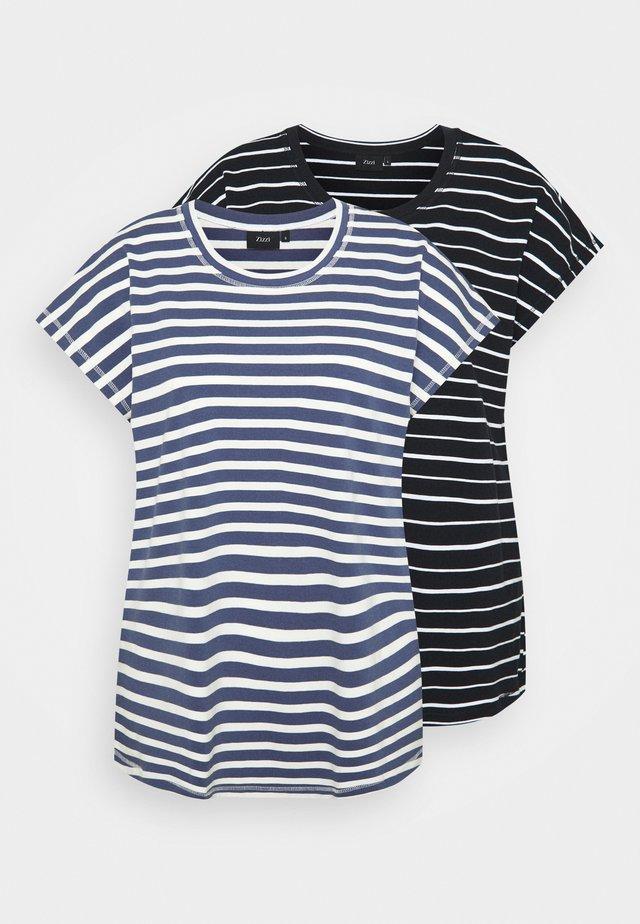 VDORIT 2 PACK - Basic T-shirt - twilight blue