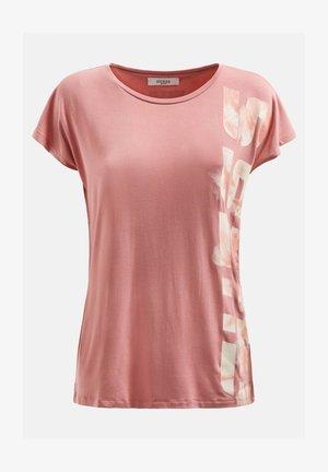 Print T-shirt - dunkelrosa