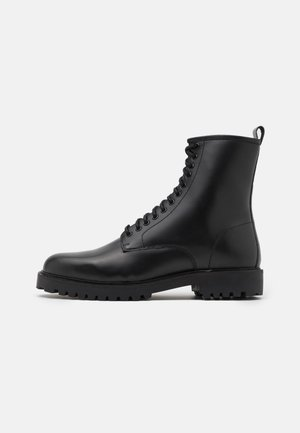 SEAN TALL LACE UP BOOT - Botki sznurowane - black