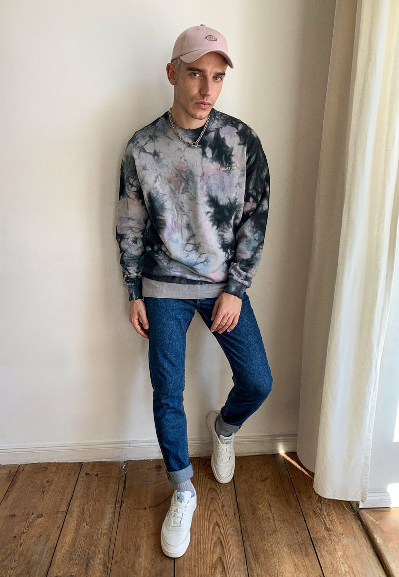 Topman - UNISEX WASHED TEE - Print T-shirt - grey