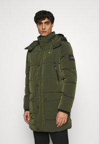 Calvin Klein - CRINKLE LONG LENGTH JACKET - Zimní kabát - green - 0