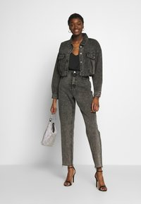 Missguided - CROPPED RAW JACKET  - Denim jacket - washed grey - 1