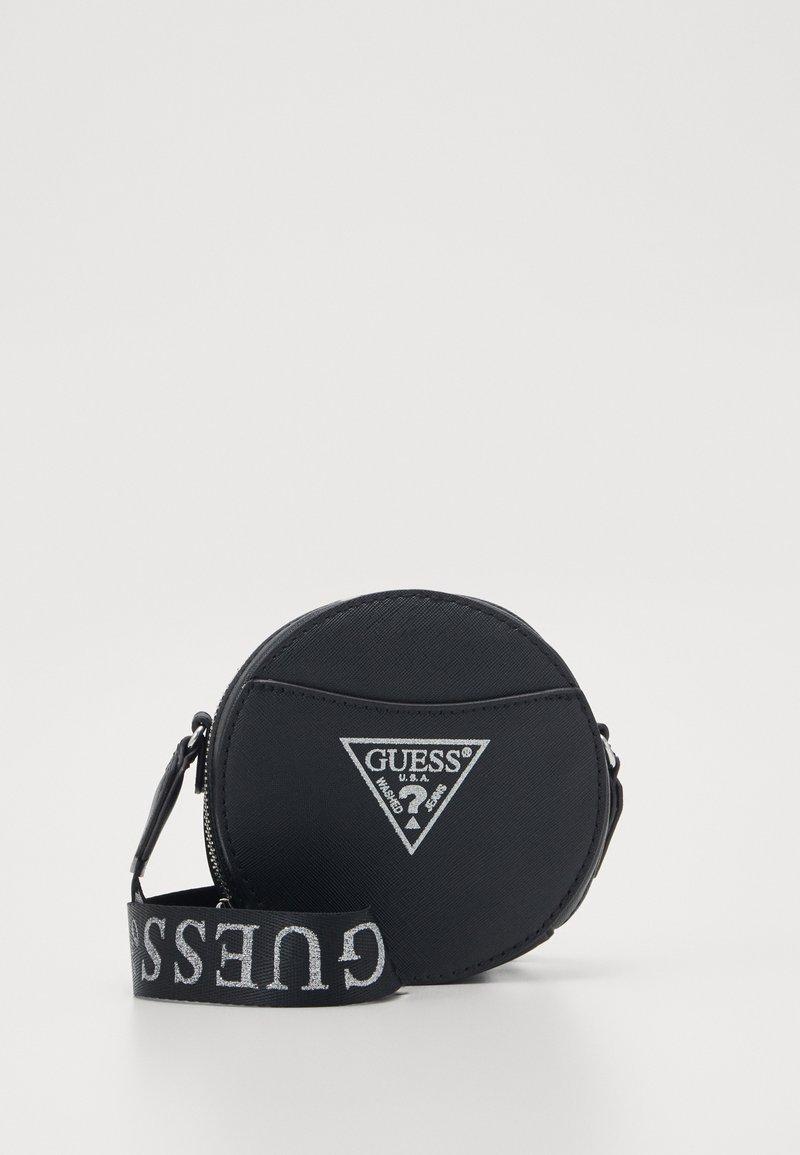Guess - CIRCLE BAG - Taška spříčným popruhem - black