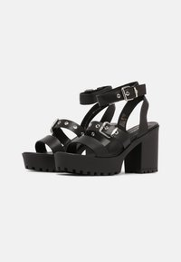 Even&Odd - LEATHER - High heeled sandals - black - 2
