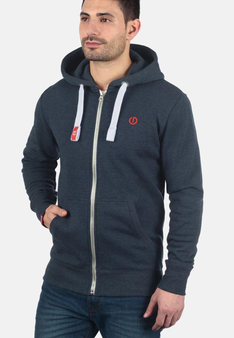 Solid - BENN - Zip-up hoodie - blue melange